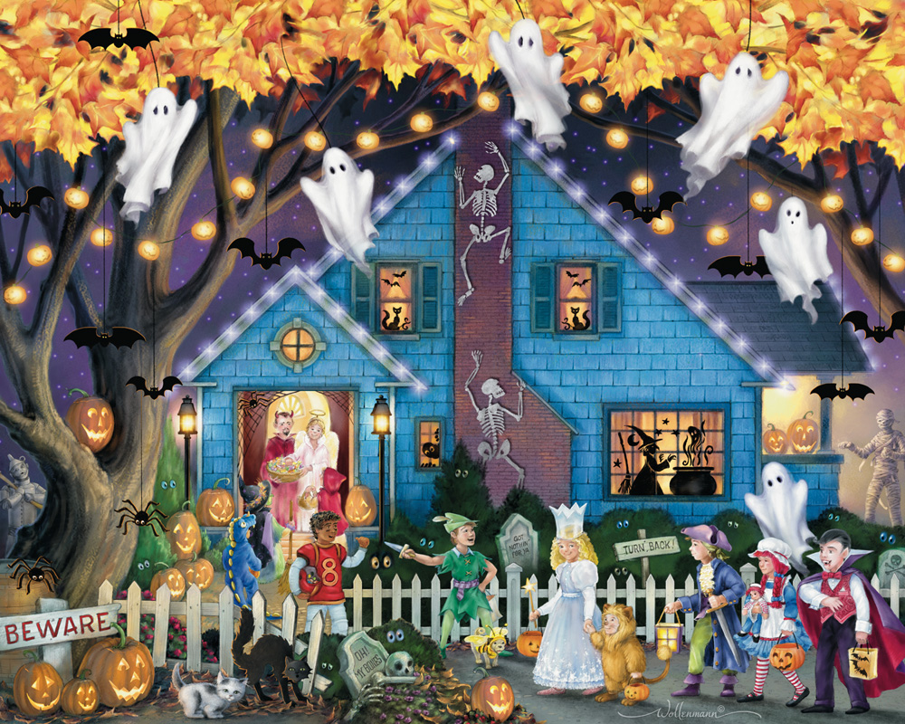 Vermont Christmas Company Ghostly Gathering - 1000 Piece Jigsaw Puzzle