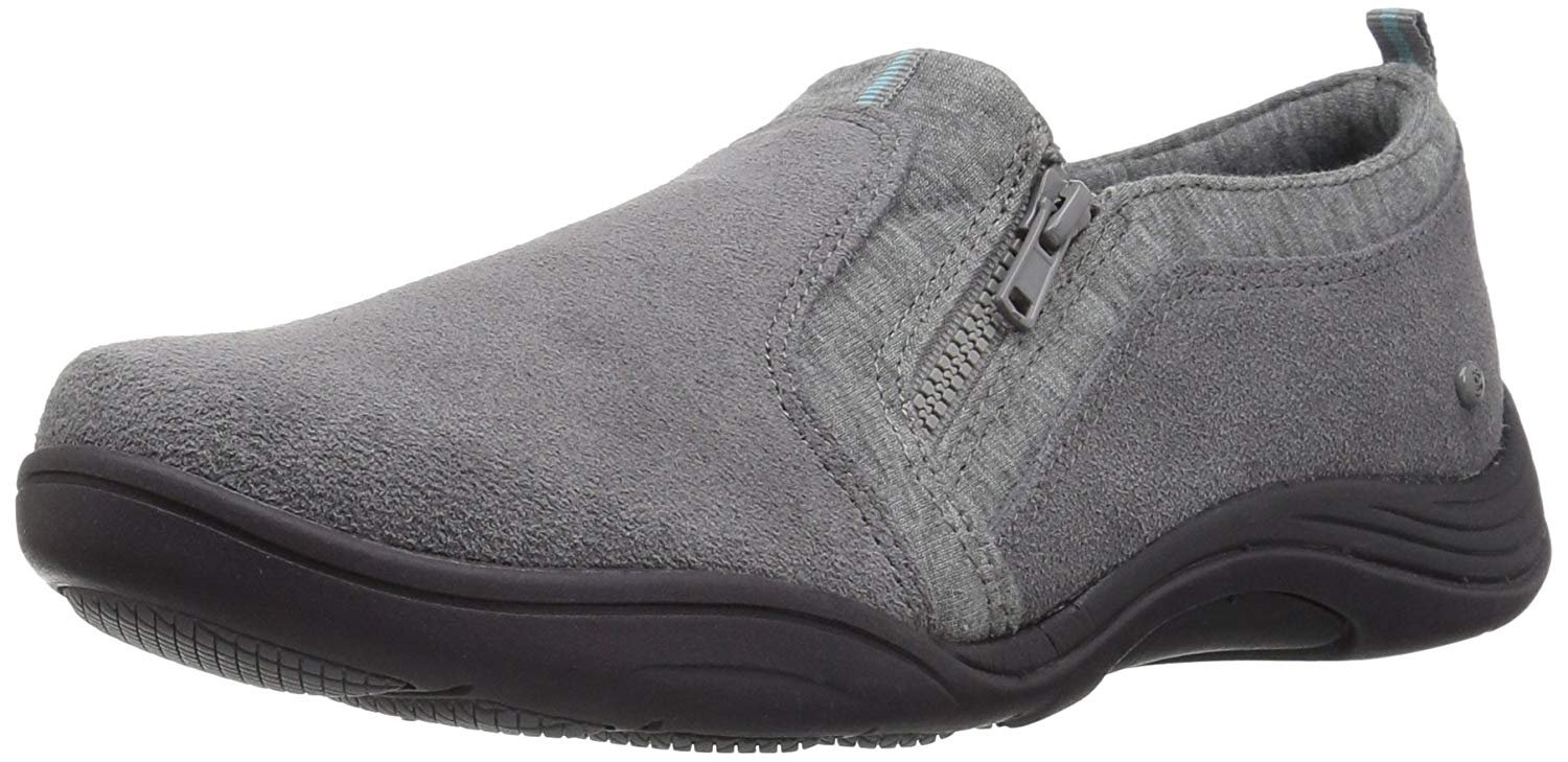 Grasshoppers Women's Elite Zip Suede Fashion Sneaker,Steel Gray,7 M US by Grasshoppers