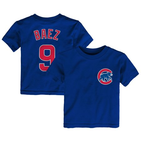 Javier Baez Chicago Cubs Majestic Toddler Player Name and Number T-Shirt - Royal