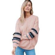 Womens Long Sleeve Floral Hoodie Pullover Christmas Top Jumper Casual Sweatshirt