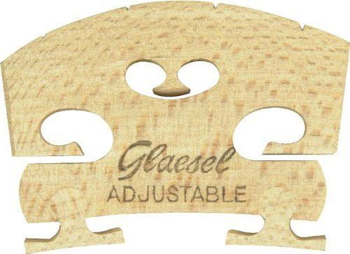 GL33524L Self-Adjusting Full Size 4 4 Violin Bridge, Violin bridge By Glaesel by