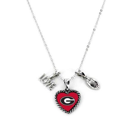 Georgia Bulldogs Necklace Charmed Sport Love Football