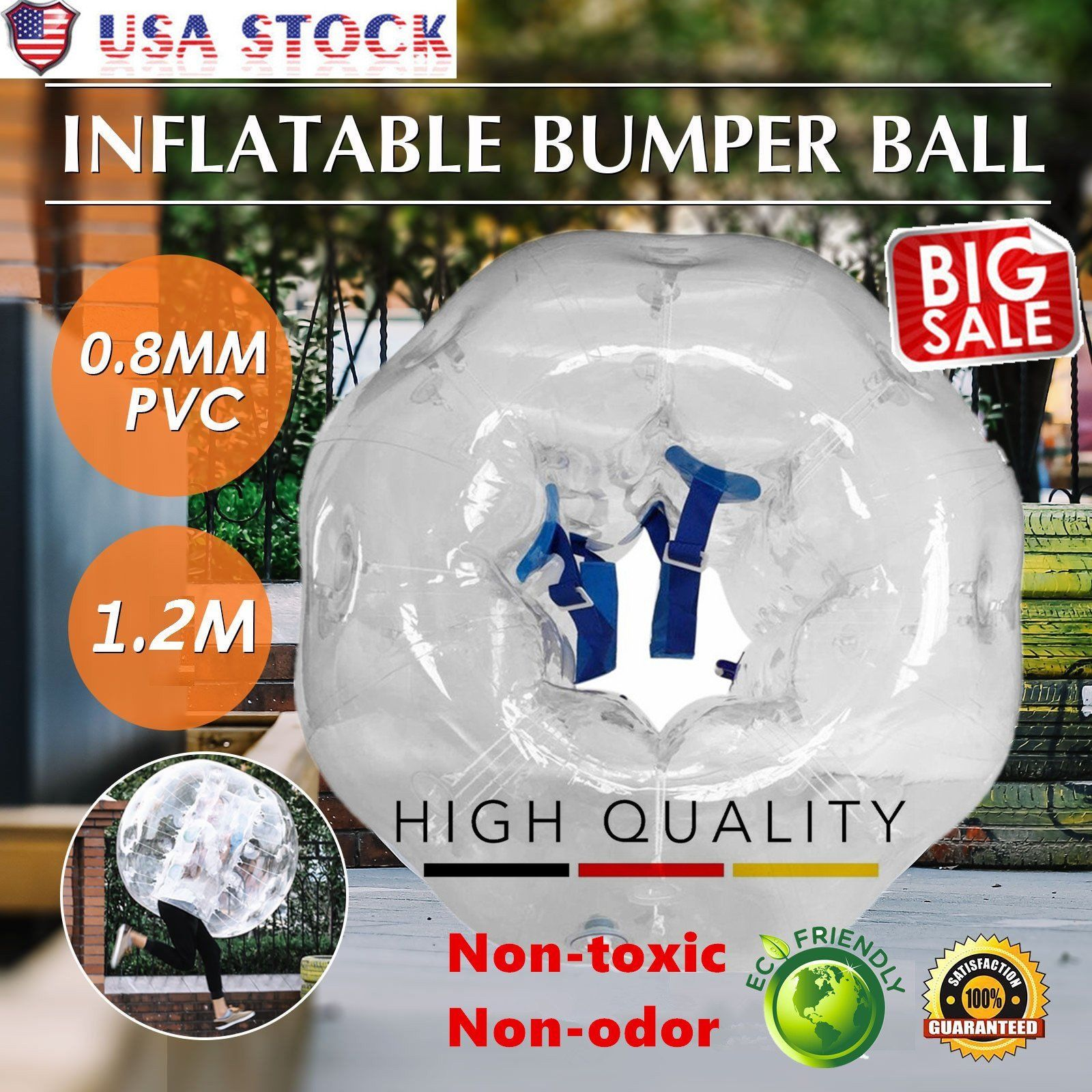 Transparent Transparent 0.8mm PVC Inflatable Bumper Ball Entertainment Human Knocker Ball... by