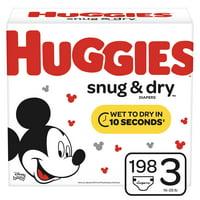 Huggies Snug & Dry Baby Diapers, Size 3, 198 Ct, Huge Pack