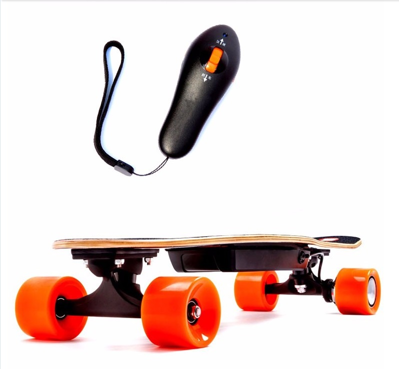 Electric Skate Board With Remote Hand Speed Control (colors Will Vary) by DENTT