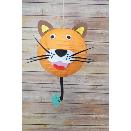 Quasimoon Kid Craft Project Paper Lantern Animal Face DIY Kit - Tiger by PaperLanternStore for $<!---->