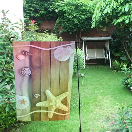 MYPOP Summer Beach Sea Shell Garden Flag Outdoor Flag Decoration 12x18 inches ()