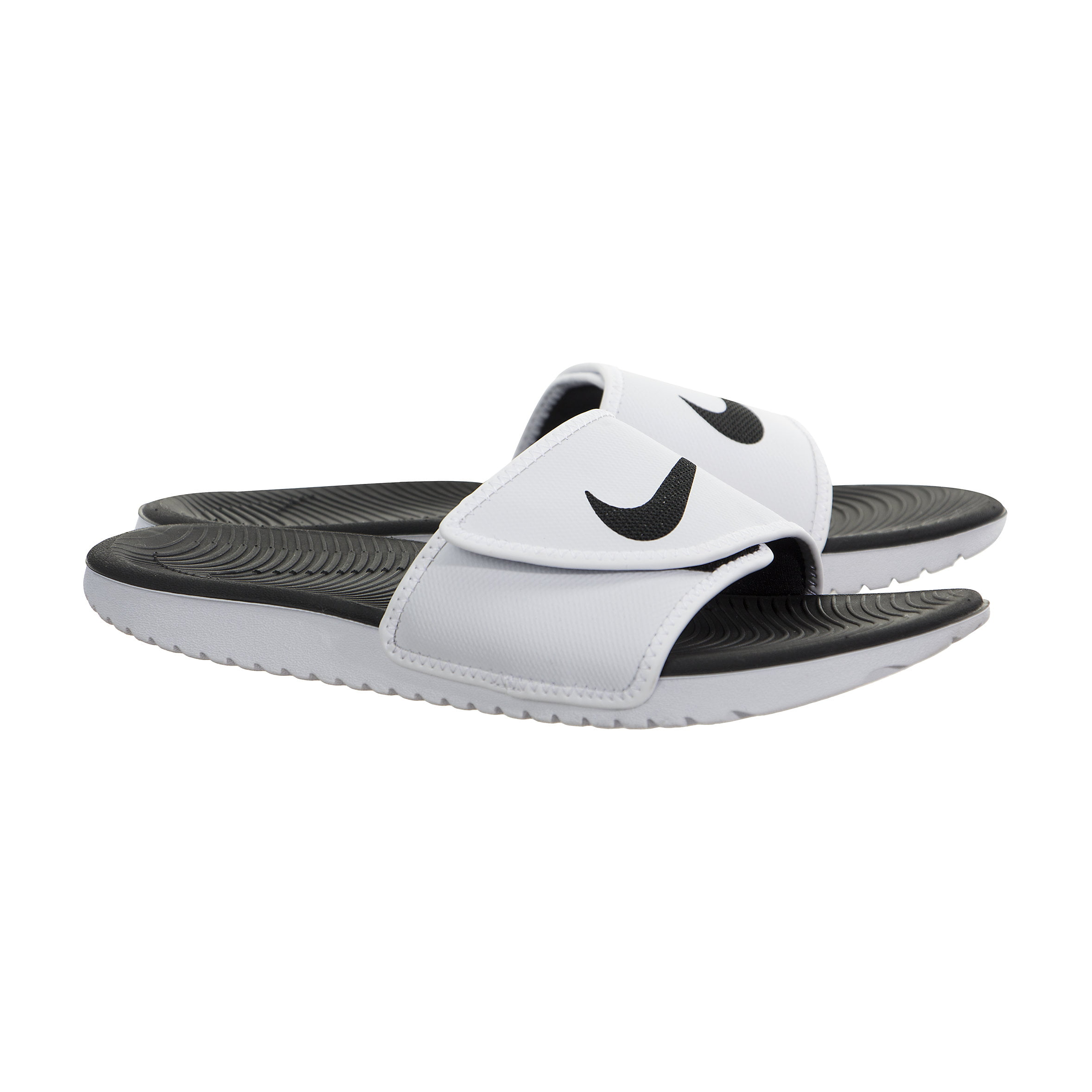 Nike Mens Kawa Adjustable Slide Sandals White/Black-White 9
