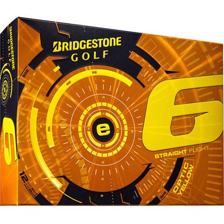 Bridgestone e6 Straight Flight Yellow Golf Balls - 12-Pack