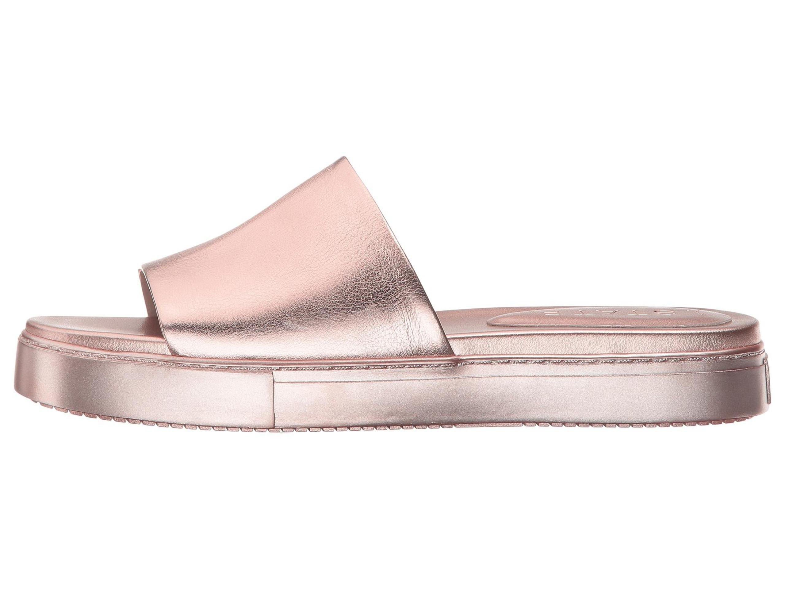 1. State Womens Joaquin Leather Open Toe Casual Slide Sandals