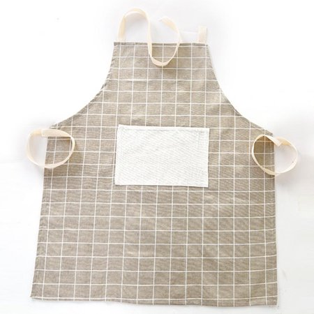 Ejoyous Cotton Linen Lattice Apron Dirty and Oil Proof  Fashion Aprons for Kitchen and Work, Work Apron, Lattice