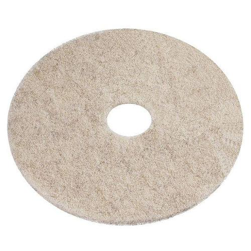 "Tough Guy 6YMV7 28"" Beige Recycled Plastic Polyester Fiber Burnishing Pad"