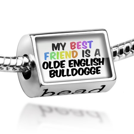 Bead My best Friend a Olde English Bulldogge Dog from United States Charm Fits All European