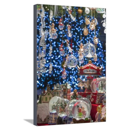Christmas Ornaments for Sale in the Verona Christmas Market, Italy. Stretched Canvas Print Wall Art By Jon (Best Electronics Sales After Christmas)