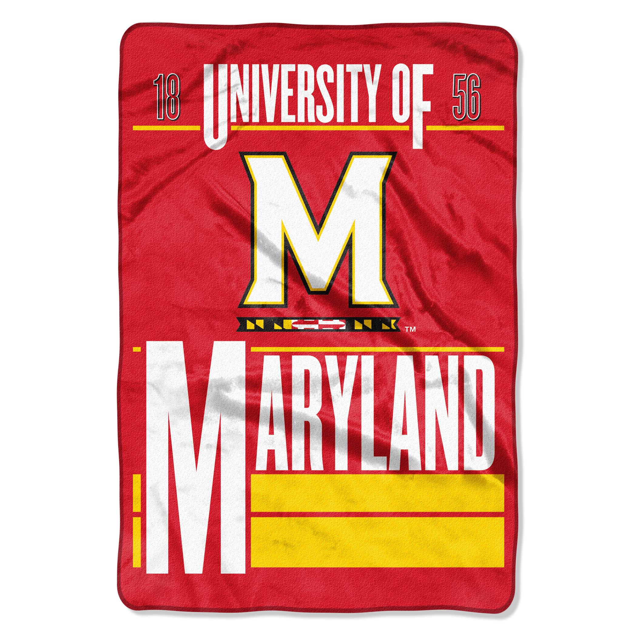 "NCAA Maryland Terrapins Faculty Oversized Micro Raschel 62"" x 90"" Throw Blanket, 1 Each"