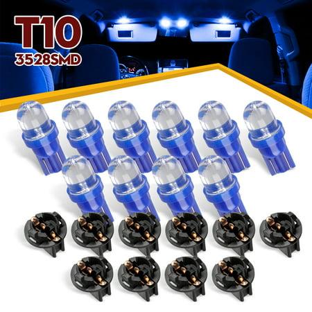 EEEkit Led instrument Panel Dash Light Bulb  -2.5W,12V (Blue),10PCS,for 168 194 3528 SMD Chips Instrument Panel Led Light Gauge Cluster Dash Indicator Bulbs