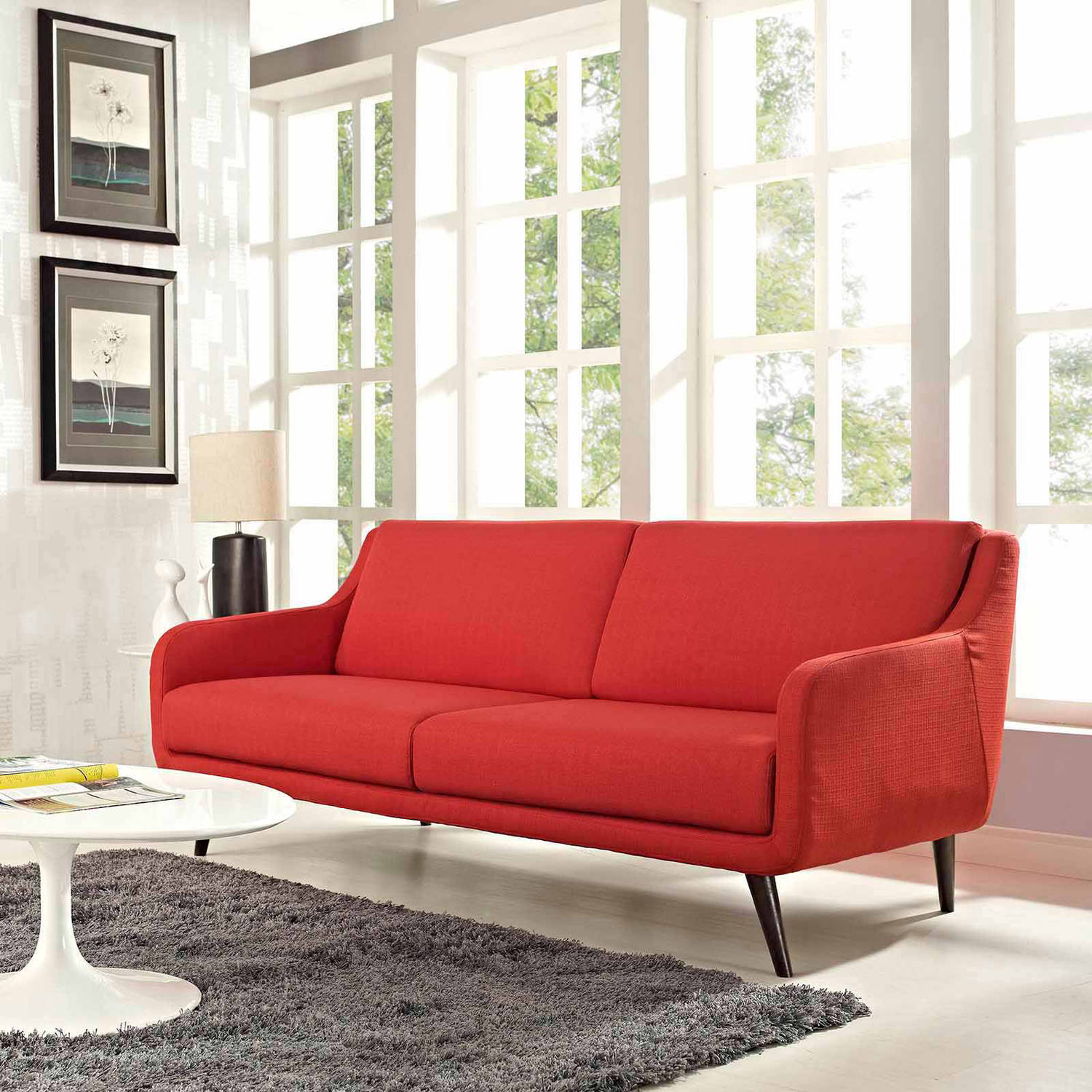 Modway Verve Upholstered Removable Cushion Sofa, Multiple Colors