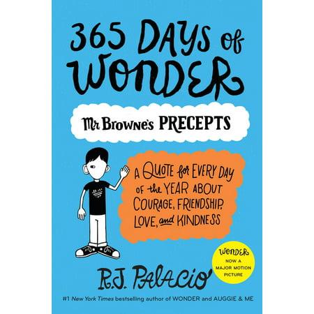 365 Days of Wonder: Mr. Browne's Precepts (Paperback)