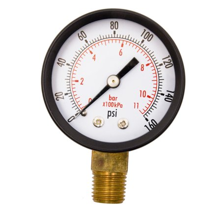 """2"""" Utility Pressure Gauge - 1/4"""" NPT Lwr Mount, 160PSI GSAD2012-160UPD"""