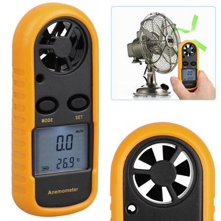 Digital Anemometer Handheld Wind Speed Meter Tester for Measuring Wind Speed, Temperature and Wind Chill with Backlight Display and Wrist Strap Ultrasonic Wind Meter