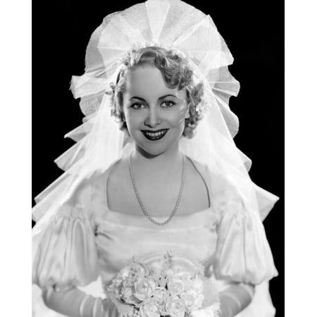 Olivia De Havilland In Fashion Wedding Gown 1935 Photo (Best Wedding Dress Photos)