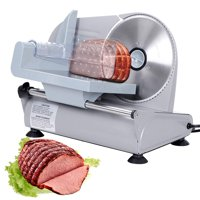 Zeny 7.5''Commercial Stainless Steel Semi-Auto Meat Slicer, Cheese Food Electric Deli Slicer Veggies Cutter (#150W)