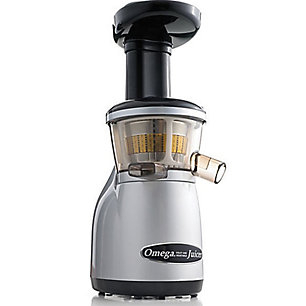 Omega Vertical Masticating Juicer, Silver