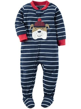 9f5668e91c Carter s Baby Boy Size 6 Month One Piece Fleece Footed Pajamas