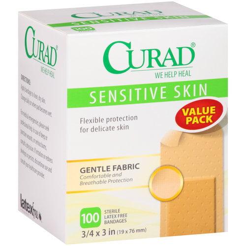 Curad Sensitive Skin Bandages, 100 count