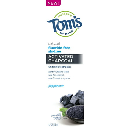 - Tom's of Maine Charcoal Fluoride Free Toothpaste, 4.7oz
