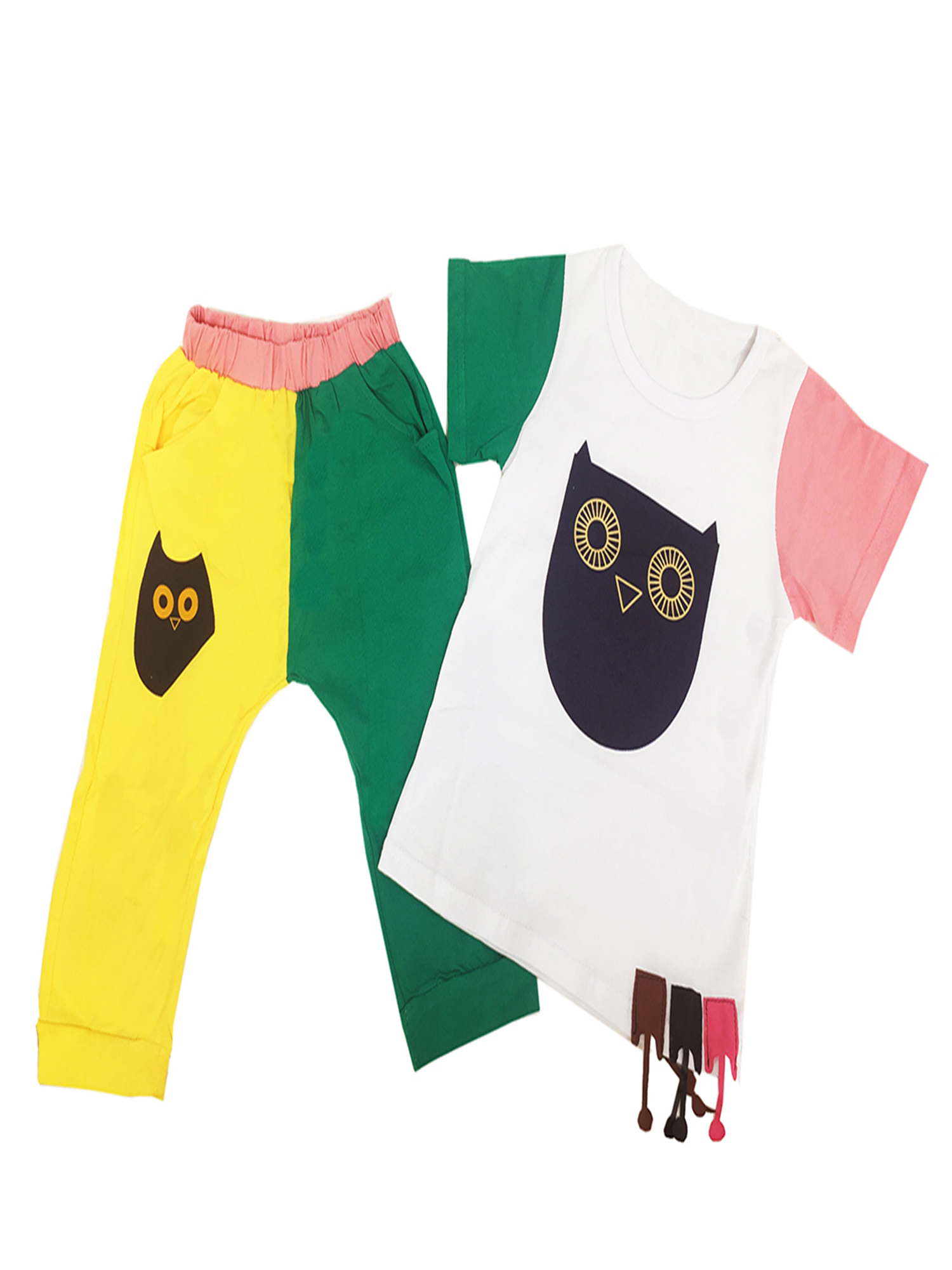 StylesILove Adorable Little Boy Casual Clothing Set (18-24 Months, Owl )