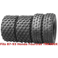 Set 4 Sport ATV tires 22x7-10 & 22x10-9 87-93 Honda Fourtrax TRX250X GNCC Race