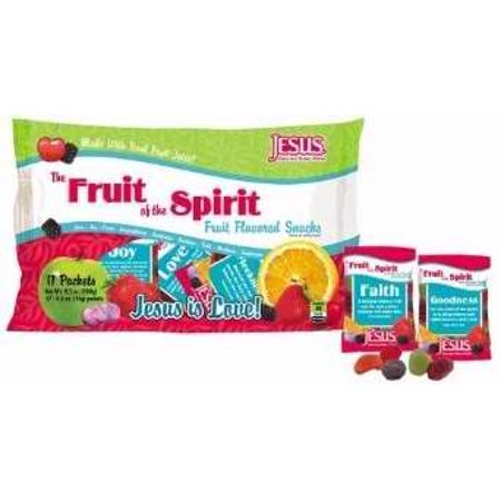 Candy-fruit de l'Esprit Snack Gummy Fruit (paquet de 17)
