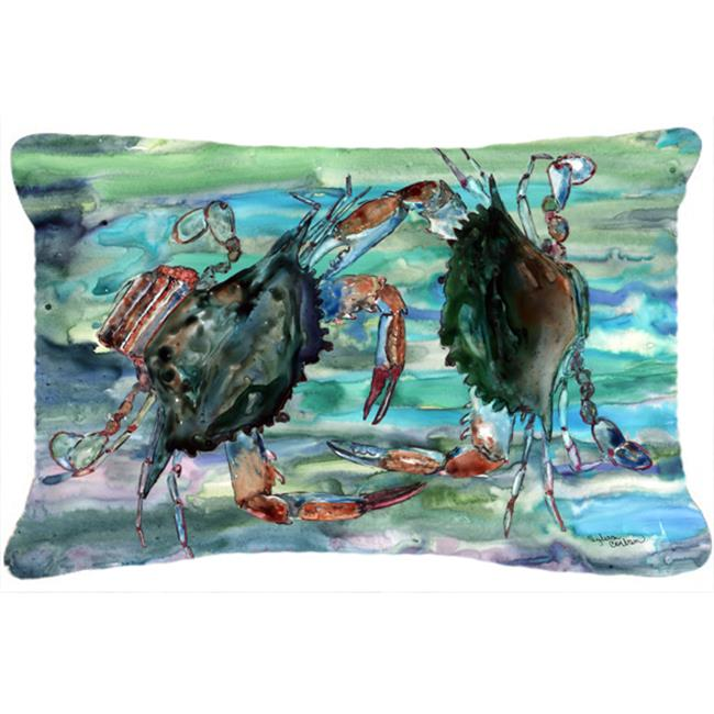 Carolines Treasures 8954PW1216 Watery Teal And Purple Crabs Canvas Fabric Decorative Pillow - image 1 of 1