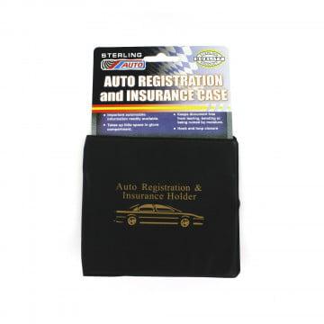 ESSENTIAL Car Auto Insurance Registration BLACK Document Wallet Holders 2 Pack  Automobile, Motorcycle, Truck, Trailer Vinyl ID Holder & Visor Storage - Strong Velcro Closure On Each