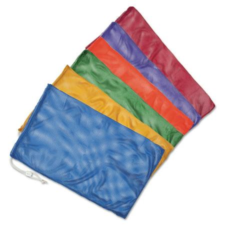 "Champion Sports Heavy-Duty Mesh Bag, 24"" x 48"", Assorted Colors, 6/Set"