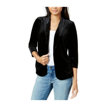 - maison Jules Womens Velvet Blazer Jacket