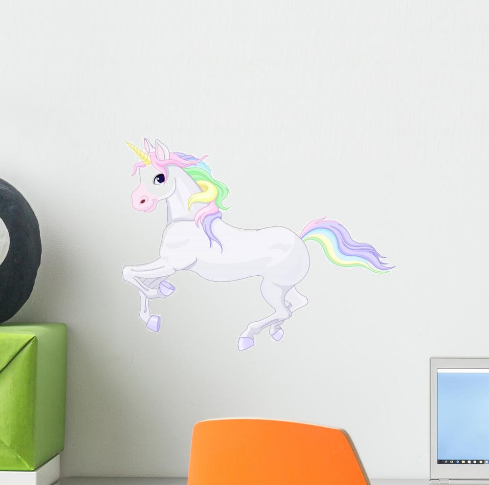Fairy Unicorn Wall Mural Decal Sticker, Wallmonkeys Peel & Stick Vinyl Graphic (12 in W x 9 in H)