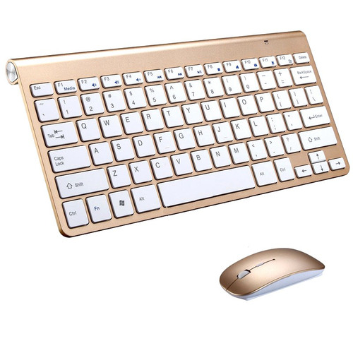 VicTsing 2.4G Wireless Keyboard MINI Waterproof X Structure Compact Keyboard mouse (Black)
