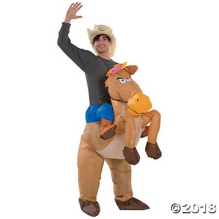 Riding Horse Costume (Men's Inflatable Riding on Horse)