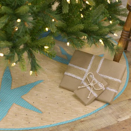 Robin Egg Blue Coastal Christmas Decor Nerine Cotton Appliqued Seersucker Nautical 21