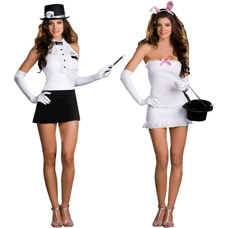 Bunny In A Hat Costume (Rabbit In The Hat Trick Women's Adult Halloween)