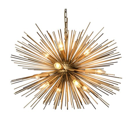 12 Light Chandelier in Gold - Mocha Finish Chandeliers