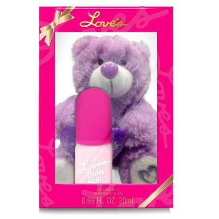Love's Baby Soft for Women by Dana Cologne Mist Spray 0.69 OZ Gift Set LOves Soft Bear - Loves Baby Soft Fragrance