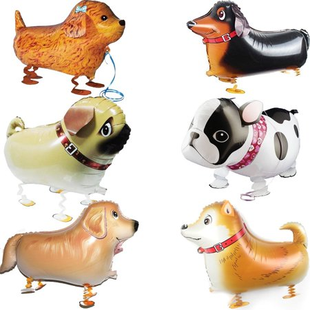Puppy Party Theme (High Supply Walking Animal Balloons Pet Dog Balloons - 6pcs Puppy Dogs Birthday Party Supplies Kids Balloons Animal Theme Birthday Party Decorations)