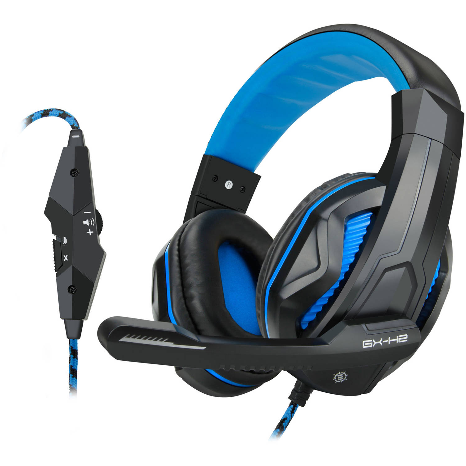 ENHANCE GX-H2 Stereo Gaming Headset with Comfortable Ear Padding and Adjustable Mic - Works With Laptop and Desktop Computers
