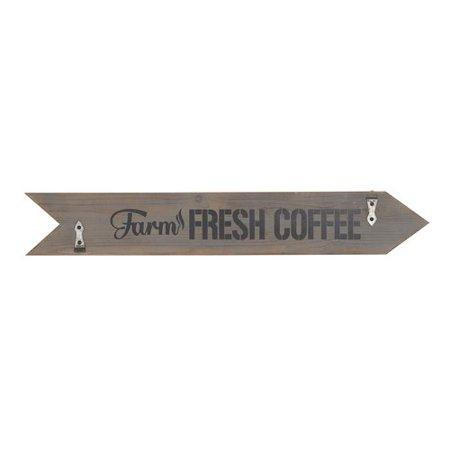 August Grove Farmhouse Farm Fresh Coffee Arrow-Shaped Wall Decor ...