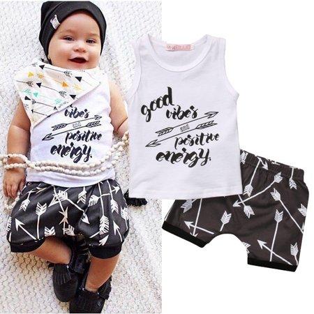 5e8448e9384c 2PCS Newborn Kids Baby Boys Summer T-shirt Tops+Shorts Pants Outfit Clothes  Set - Walmart.com