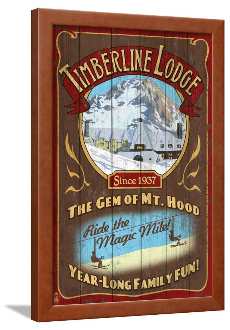 Timberline Lodge - Mt. Hood, Oregon Framed Print Wall Art By Lantern ...