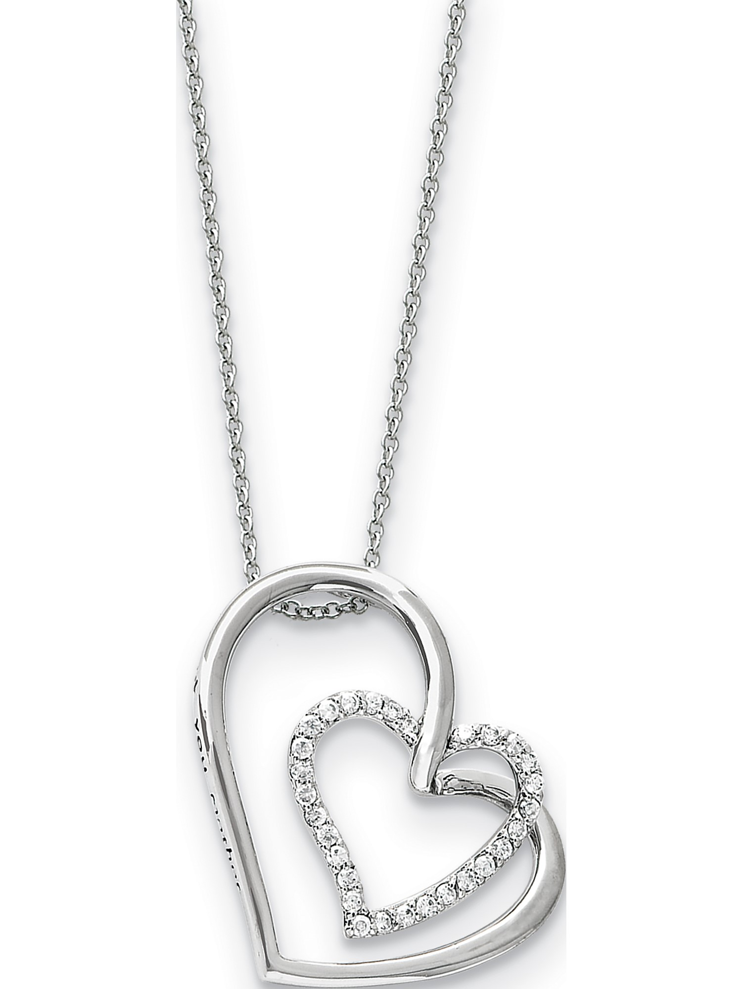 Jewelry Necklaces Necklace with Pendants Sterling Silver Antiqued In My Heart 18in Necklace